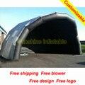 10mWx5mDx5mH индивидуальные гигантские надувные стадии покрытия черный большой надувной шатер случая с вентилятором
