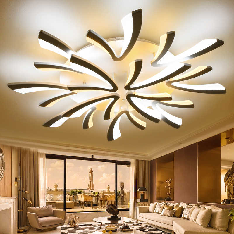LED remote control chandeliers Living room Bedroom Kitchen Dining room led salon lighting Indoor home decor spider chandelier