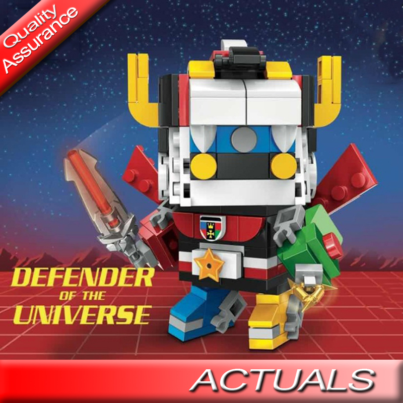 New Decool 18002 Super Heroes Defender of The Universe Brickheadz Building Blocks Figures Bricks Toy Compatible with Lego MOC