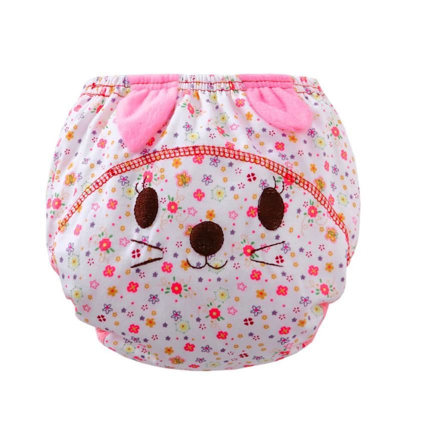 Cotton Diaper Coth Hot Sale Baby Infant kids Animal Cartoon Ruffle Panties Briefs Diaper Cover Pants fraldas reutilizaveis #20