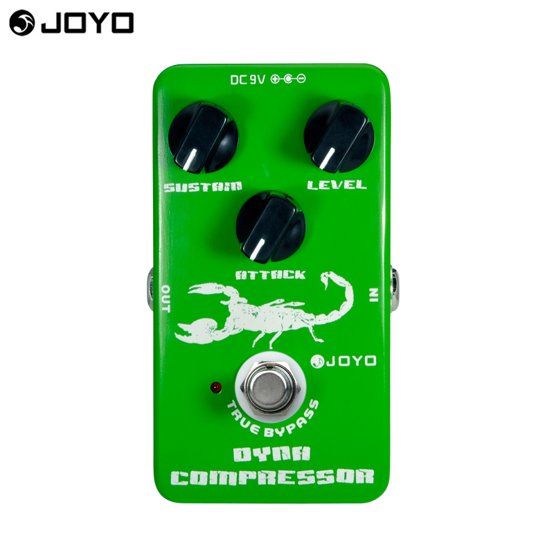 JOYO Dynamic Compressor Guitar Effects Pedal reduce the redundant dynamic ensure balanced Performance true bypass free shipping