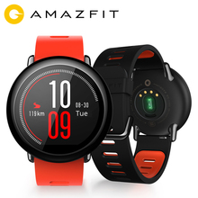 Купить с кэшбэком Huami Amazfit Pace Smartwatch Bluetooth 4.0 Sports Smart Watch GPS Push Heart Rate Intelligent Monitor AMAZFIT Smart-Watch