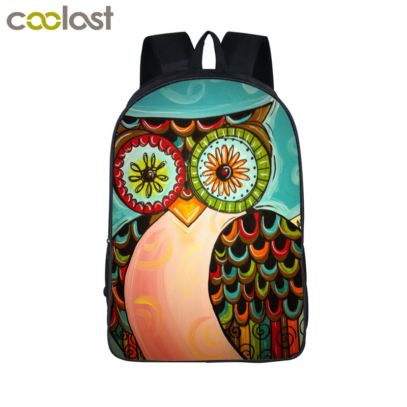3D Cartoon Owl font b Backpack b font For teens font b Kids b font Mystery