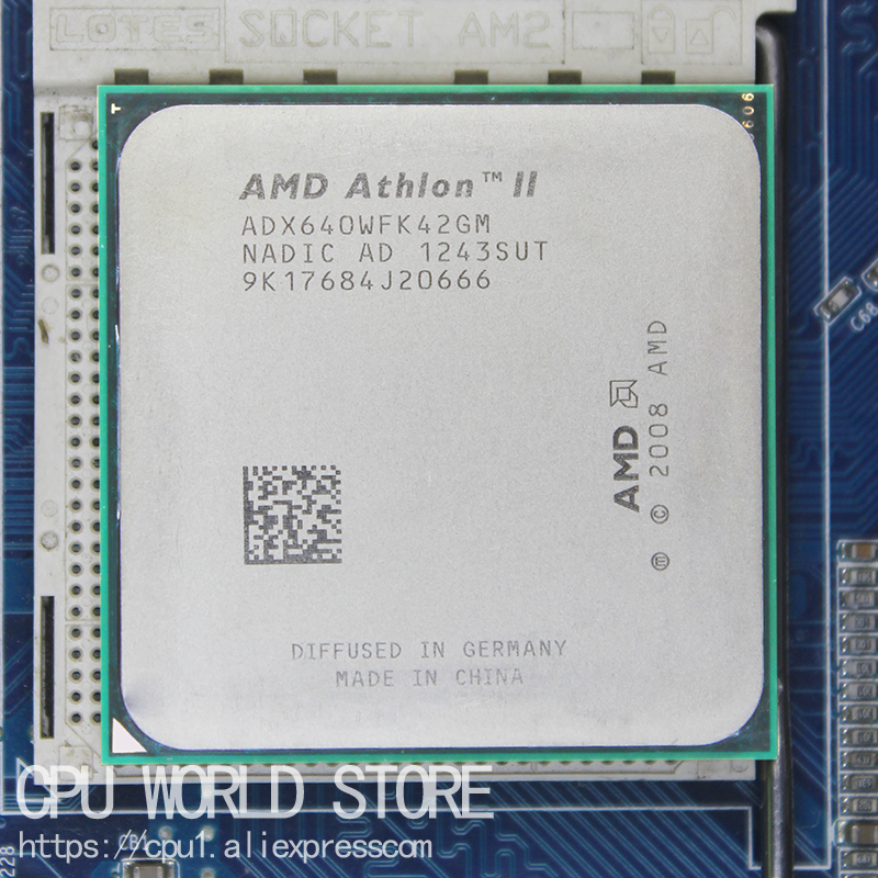 AMD Athlon II X4 640 CPU Processor Quad-CORE 3.0Ghz/ L2 2M /95W / 2000GHz Socket am3 am2+ 938 pin image