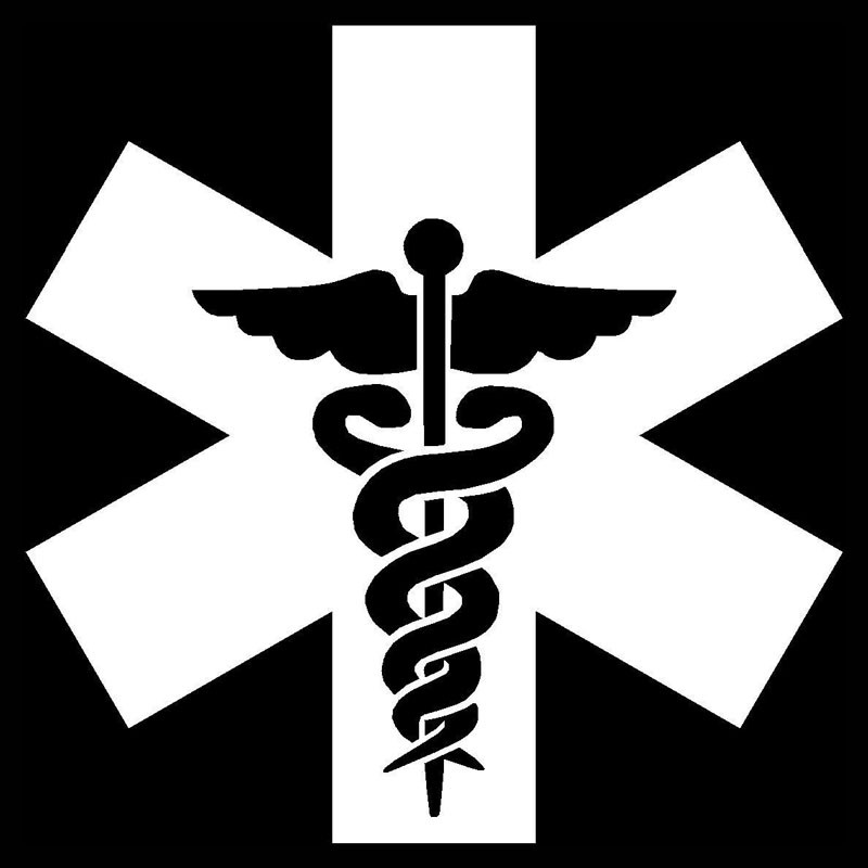 Yongxun 9595cm Medical Symbol Car Sticker Decals Motorcycle
