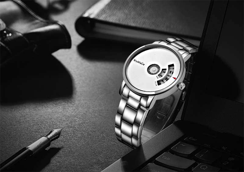Simple Style Fashion Men Quartz Watch Luxury Creative Steel Band Casual Men's Silver Watches Hodinky Saat Relogio Masculino