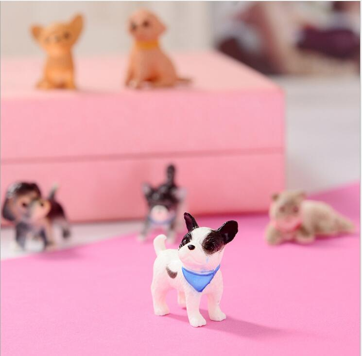 Simulation 3D PVC Dog Lovely Cat Dog Toys Action Figures PVC Model Toys Brinquedos Ornam ...