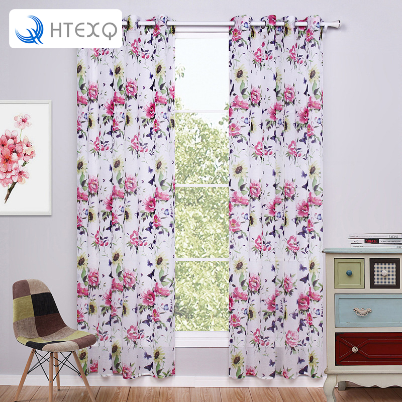 Red Window Curtain Panels Sale: Popular Red Floral Curtains-Buy Cheap Red Floral Curtains