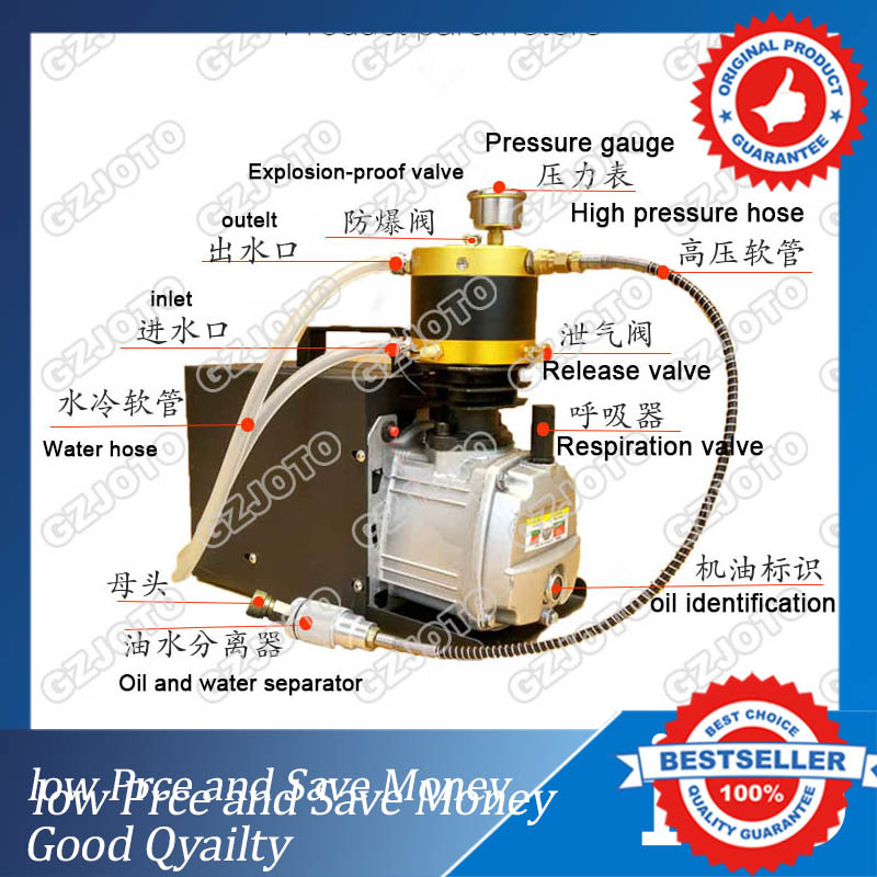 1.8KW New Explosion-proof Air Compressor For Pneumatic Airgun Scuba Rifle PCP Inflator