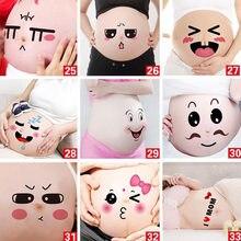 517004cc6358a 12 Pcs الإبداعية هدايا المولود الجديد الوشم الجسم الفن ملصقات الأم ليكون  الحمل الذاكرة لطيف الرموز التعبيرية تعبيرات صور الدعامة