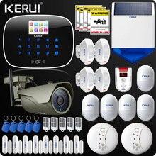 Kerui ISO Android App Home Alarm System  Autodial Burglar Security Kit RFID Display Outdoor Wifi Camera  Door Open Reminder