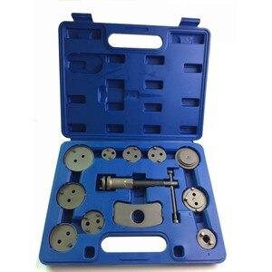 12 unids/set pinza de freno de disco Universal de precisión para coche Kit de herramientas compresoras de pistón de freno trasero de viento para coches herramientas de reparación de garaje