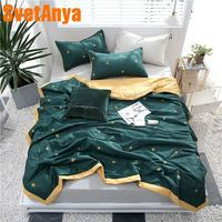 Svetanya new Cotton Throws Blanket thin stiching bedding Quilt single double queen size