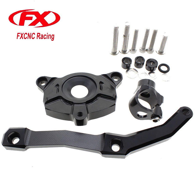 Adjustable Steering Stabilize Motorcycle Damper Bracket Mount kit For Kawasaki Z1000 2010 2011 2012 2013 Steering Support
