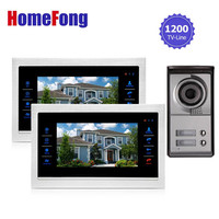 YSECU 2 Apartment Family Video Door Phone Intercom System 1 Doorbell Camera With 2 Button 3