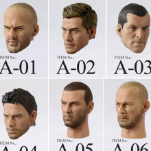 HOT 1/6 figure toys head sculpt 1/6 Jason Statham Iron Man Tony Head for 12 inch soldier action figure HT hottoys model toy(China)