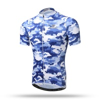XINTOWN Short Sleeve Men Breathable Anti Sweat Camouflage Cycling Jerseys Mountain Bike Ropa Ciclismo Bicycle Jerseys