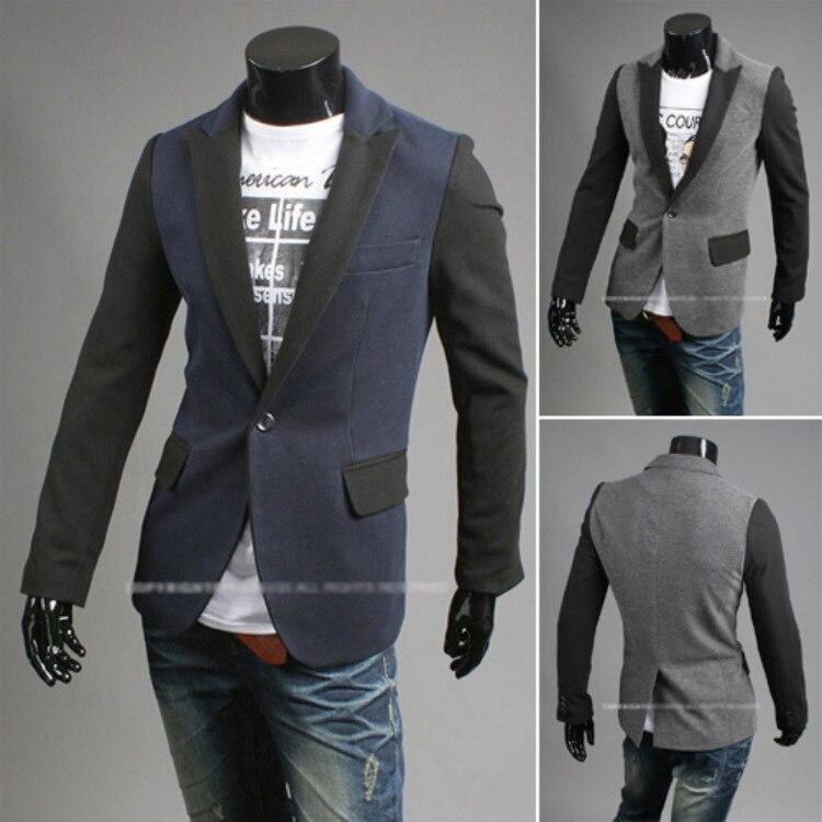 2015 New Design Mens Blazer Jacket Coats,Fashion Englon CONTRAST COLOR Single Button Suit Men, size M~XXL - G & C store