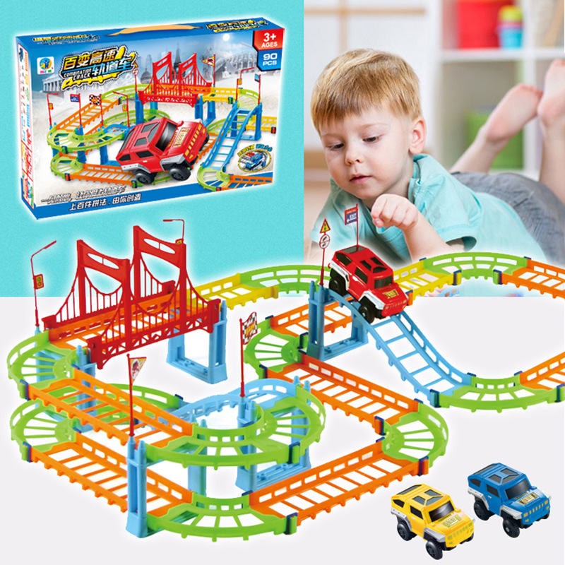 Rail Car Toy Racing Track Car Assembly Magic Track Children's Educational Toys Gifts Children's Favorite Toys Imagination Toy