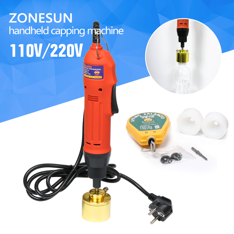 цена на ZONESUN Manual electric Capping Machine for screw cap, screw capper plastic bottle capping machine capper(10-50MM)