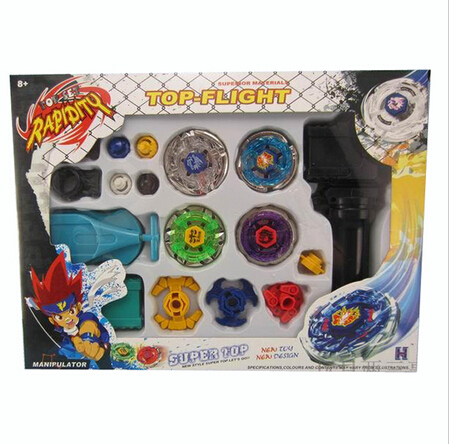 New Metal Fusion Top Rapidity Fight Master Rare Beyblade 4D Launcher Grip Set Kids Beyblade Spinning Tops