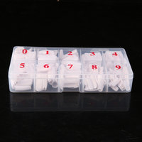 2018 New 500 Pieces Full Cover French Artificial False Nail Tips For DIY In Box