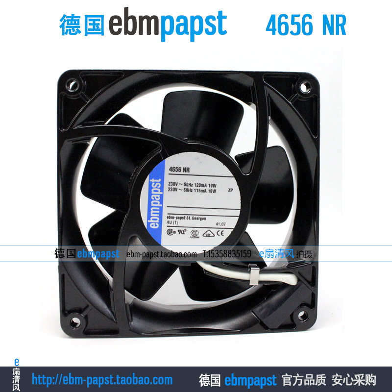 ebmpapst 4656NR AC 220V 0.12A 18W 120x120x38mm Server Square fan ebmpapst a6e450 ap02 01 ac 230v 0 79a 0 96a 160w 220w 450x450mm server round fan outer rotor fan