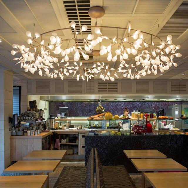 Leaf Branch LED Chandelier Light Lamp Fixture For Modern Vintage Loft Dining Living Room Bar Home Hotel Restaurant Decoration