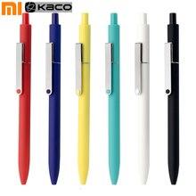 Шариковая ручка с гелевыми чернилами Xiaomi KACO MIDOT, 6 цветов на выбор, 0,5 мм, черные чернила, металлический зажим, нейтральные ручки, школьные офисные принадлежности