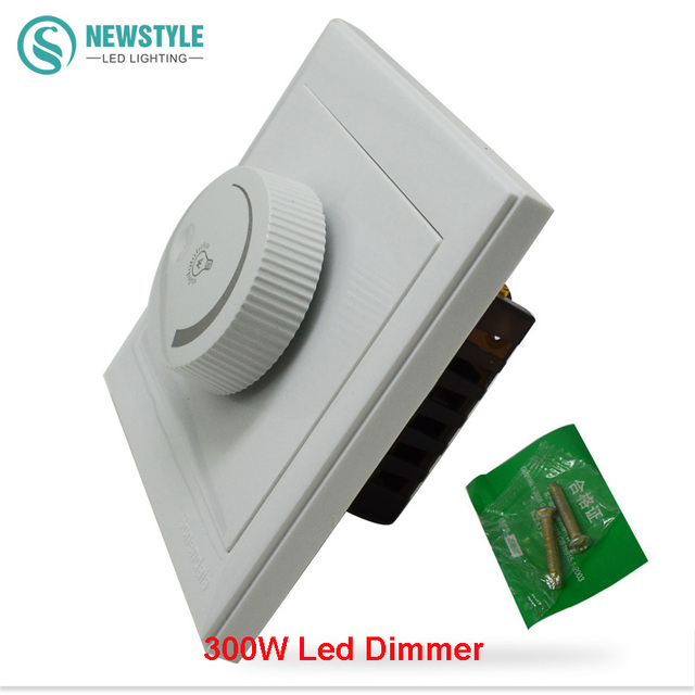 led dimmer switch 220v 300w brightness dimmers for adjustable led strip lights spotlights in. Black Bedroom Furniture Sets. Home Design Ideas