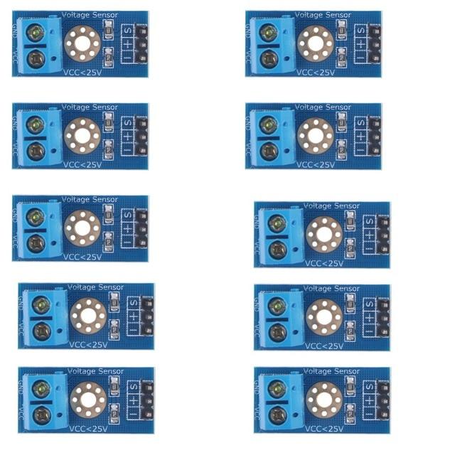 10 قطعة وحدة الجهد جهاز استكشاف DC0 25V اردوينو مع رمز RCmall FZ0430