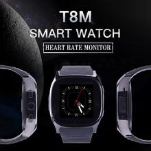 T8M Passometer Bluetooth Smartwatch Relógio Inteligente Apoio Freqüência Cardíaca Rastreador Com Câmera Men Women Watch Para Android PK k88h GD19