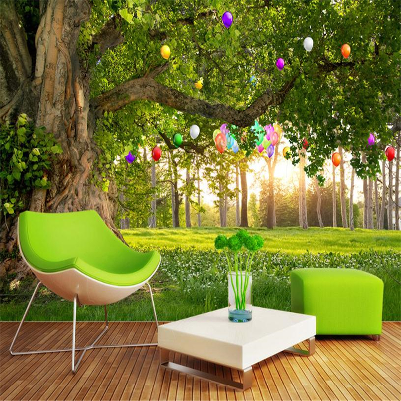 Natural Landscape Wallpapers 3D Custom  Photo Wall Murals Woods Tree Wallpapers for Living Room Bedroom TV Background Home Decor custom 3d murals forests trees rays of light tree nature photo wall living room sofa tv wall bedroom restaurant wallpapers