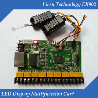 LINSN EX902 multifunction card Temperature Humidity Sensor Brightness Adjustment