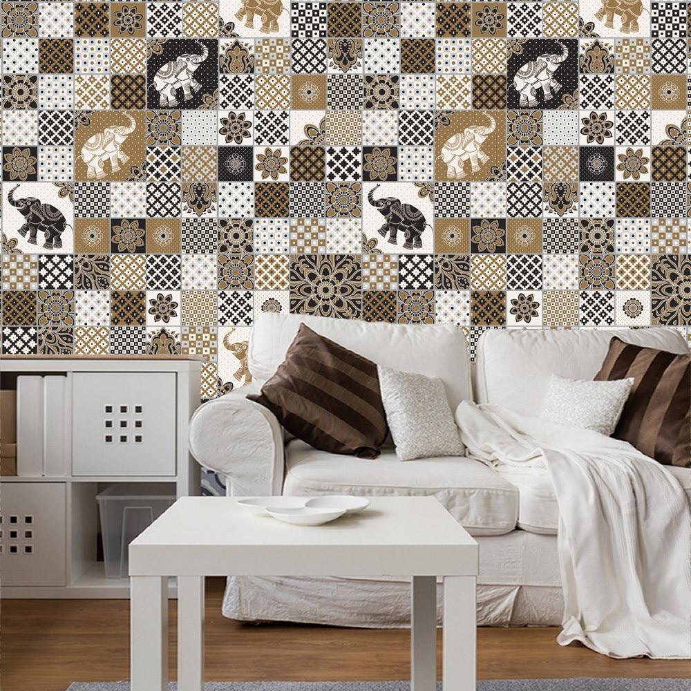 25Pcs Self Adhesive <font><b>Tile</b></font> Art Wall Decal Sticker DIY Kitchen Bathroom Decor Vinyl