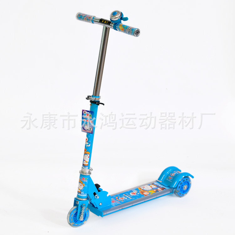 For Children High quality Adjustable height Kick Scooters Folding Foot Scooters with Flash PVC wheels & LED child skateboard car foot scooters breaststroke scooter kick scooters children best birthday gift tb331116
