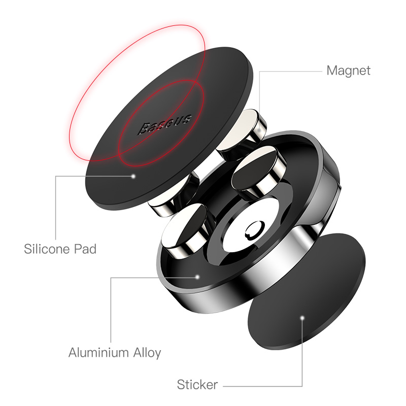 Image 4 - Baseus Univeral Magnetic Car Phone Holder Air Vent Mount Magnet Dashboard Car Holder Desk Wall Sticker Mobile Phone Holder Stand-in Phone Holders & Stands from Cellphones & Telecommunications