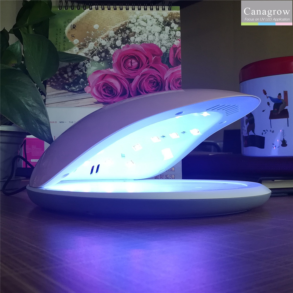 48W UV LED Lamp for Nails Rainbow5 Smart 24 LEDs Curing Nail Dryer Lamp Machine for Manicure Fingernail Drying Art Gel Polish 48 w professional ccfl uv led lamp nail dryer for nail gel polish curing ultraviolet nails lamp dryers art manicure tools