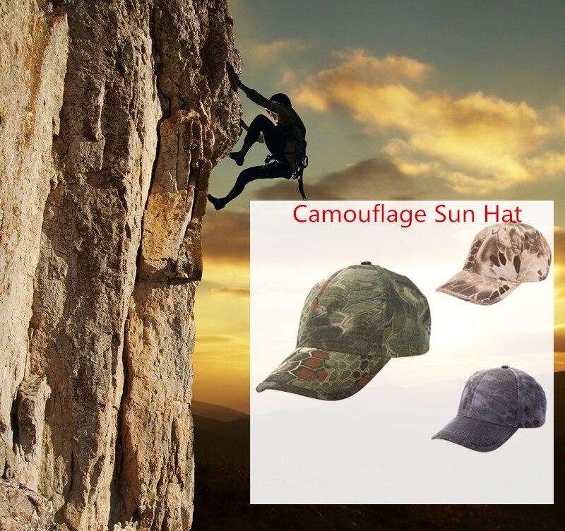 Tactical Militar camuflaje Sol sombrero Boa Grain béisbol Bionic Aire Libre  Caza camping senderismo Ciclismo Pesca cap c7c8c525ac5
