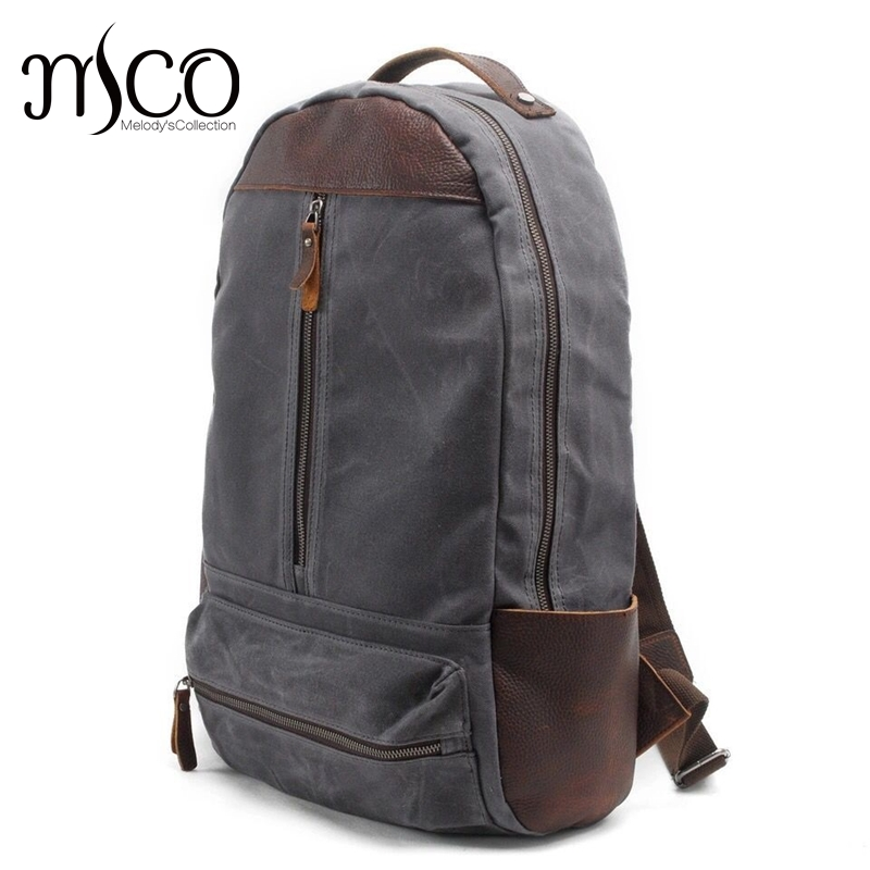 2016 New Canvas Men Laptop Backpack Rucksack Young School Bags Vintage Casual Large Travel Bag Fashion Male Military Backpacks vintage multifunction business travel canvas backpack men leisure laptop bag school student rucksack