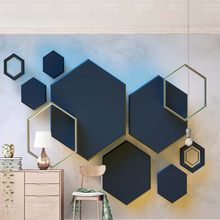 3D Stereoscopic Geometry Hexagon Mosaic Abstract Photo Wallpaper Mural for Living Room Bedroom Custom Any Size Mural Wall Decor(China)