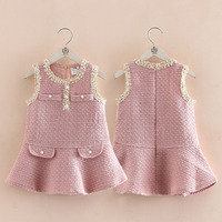 Baby Vest Dress 2018 Autumn Suit New Girl Child Dress Children Sleeveless Dress