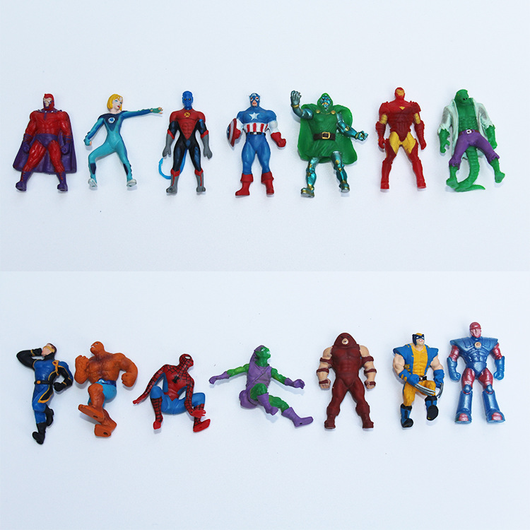 New 20pcs mini 4cm Marvel The Avengers Super Hero Captain Batman Figure Doll Action Kids Children Toy kids Gift 2 orders a toy a dream new super hero avenger marvel captain america shield kids toys gift for cosplay free shipping q006