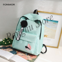 Raged Sheep Canvas Double Shoulder Basg Womens Bag Korean Edition Preppy Style Student Travel Backpack Girls Back To School