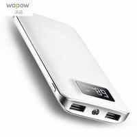 Wopow Ultra Thin Power Bank Large Capacity 8000mAh Double USB Digital LCD Display Battery LED Torch