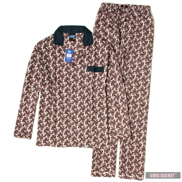 Pajamas Men Autumn 100% Cotton Long-sleeveand Sleepwear Pyjamas Men Lounge Pajama Sets