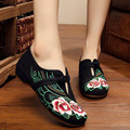 New Chinese Embroidery Canvas Flats Shoes elegant embroidered old Beijing Girl casual Dance single shoes size 34-41