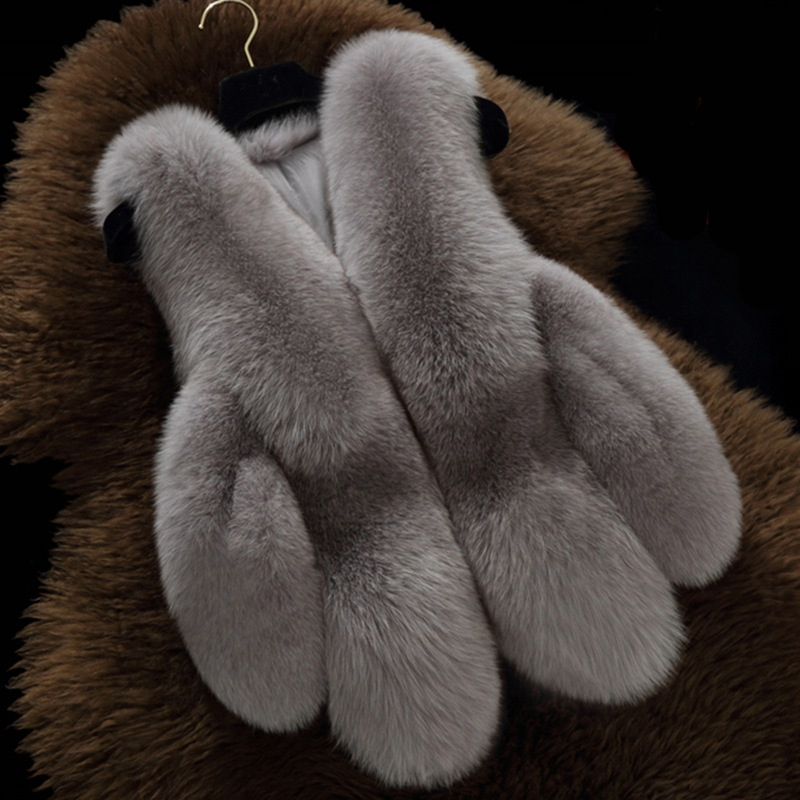 Nett 2018 Plus Größe 4xl Frauen Winter Faux Fuchs Pelz Pelz Ärmellose Weste Mantel Weibliche Warme Mode Gefälschte Kaninchen Fell Weste Jacken X86 So Effektiv Wie Eine Fee