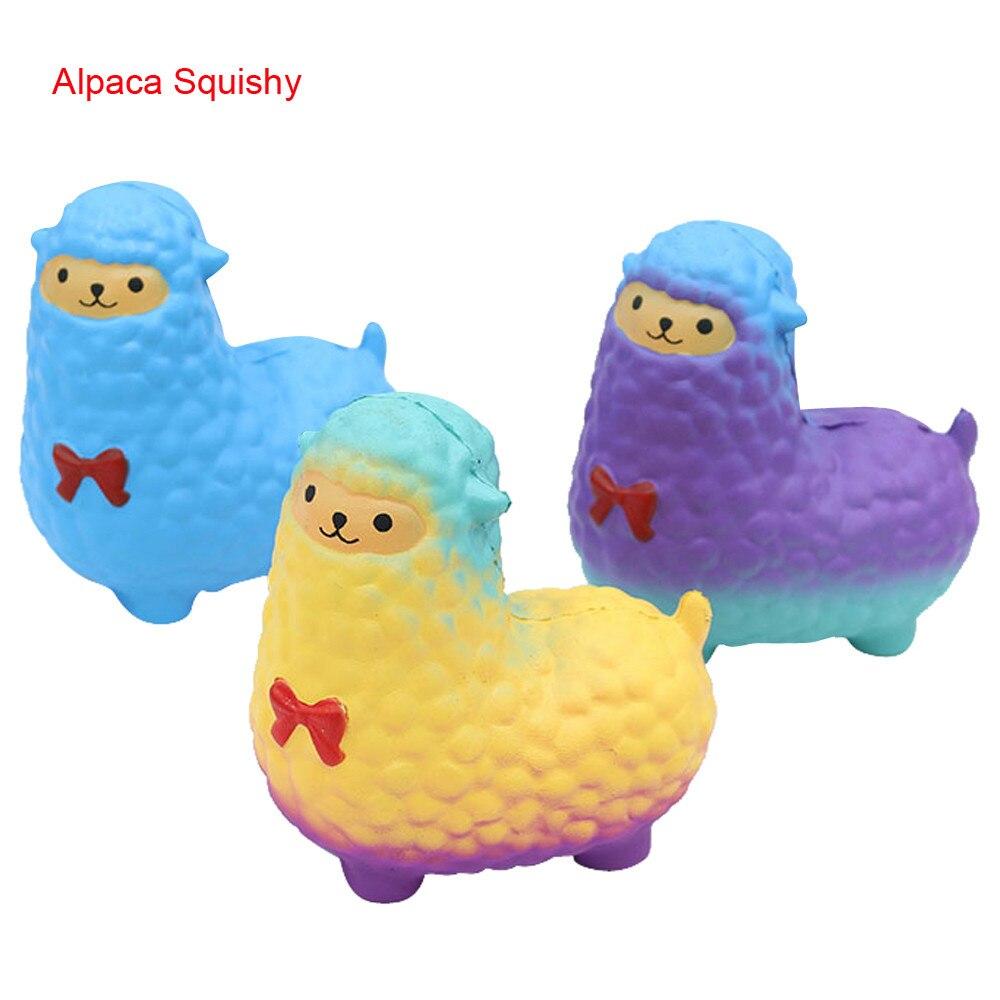 17cm Huge Novelty Toys Anti-Stress Pu Jumbo Sheep Squishy Cute Alpaca Galaxy Super Slow Rising Scented Fun Buffer Stress toys