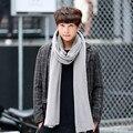 Otoño e invierno moda bufanda que hace punto Ocasional con motivo de la moda de los hombres de color sólido bufanda caliente Primavera caliente masculina bufanda de cuello